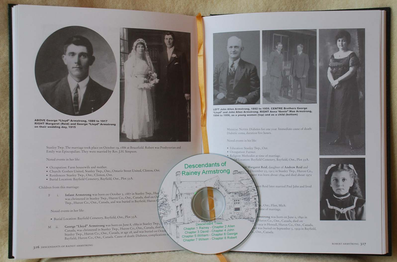 descendants of rainey armstrong family history book